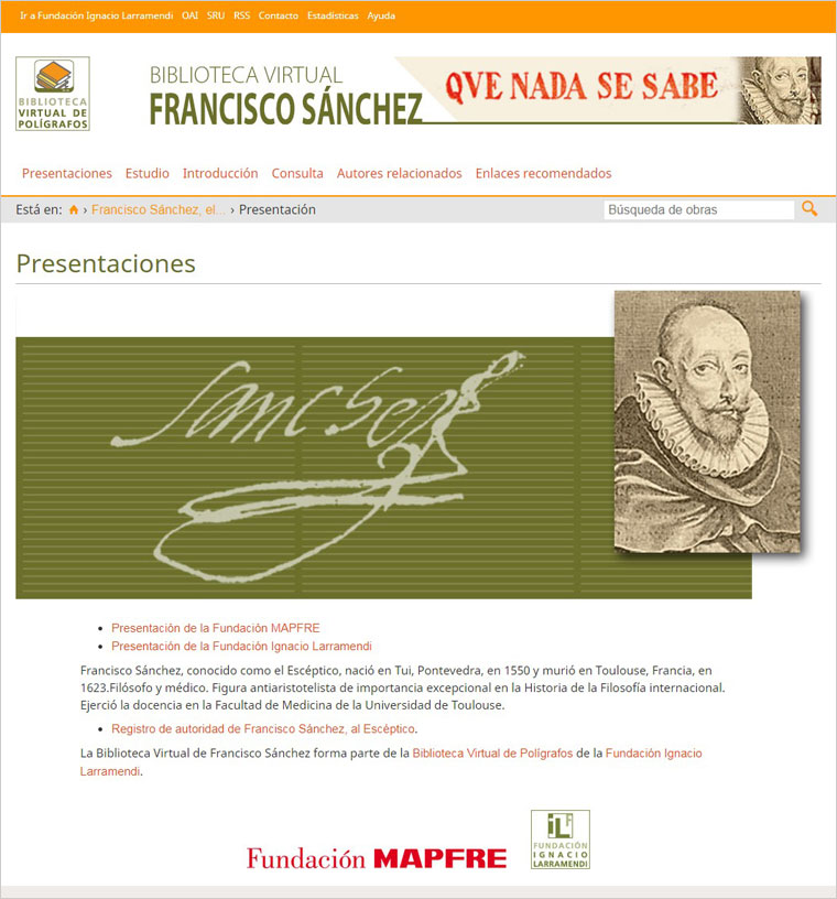 Biblioteca Virtual de Francisco Sánchez